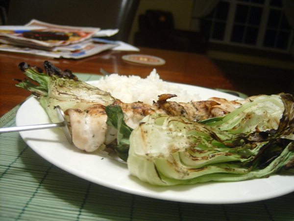 Chicken skewers (photo - Dan Jones)