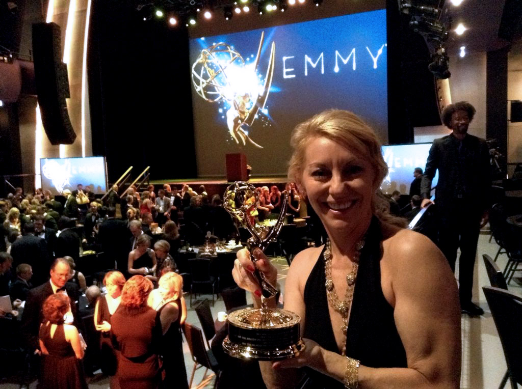 Michael-Ann Rowe with her Emmy Award in Detroit, June 14, 2014.