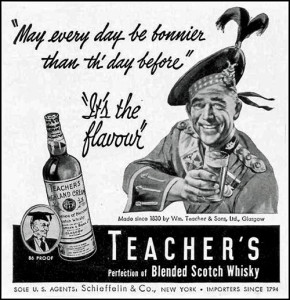 Ad for Teacher's Highland Cream (aka 'The Nip')