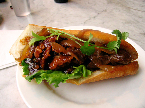A rough idea of what our General Tso chicken sandwich will look like.