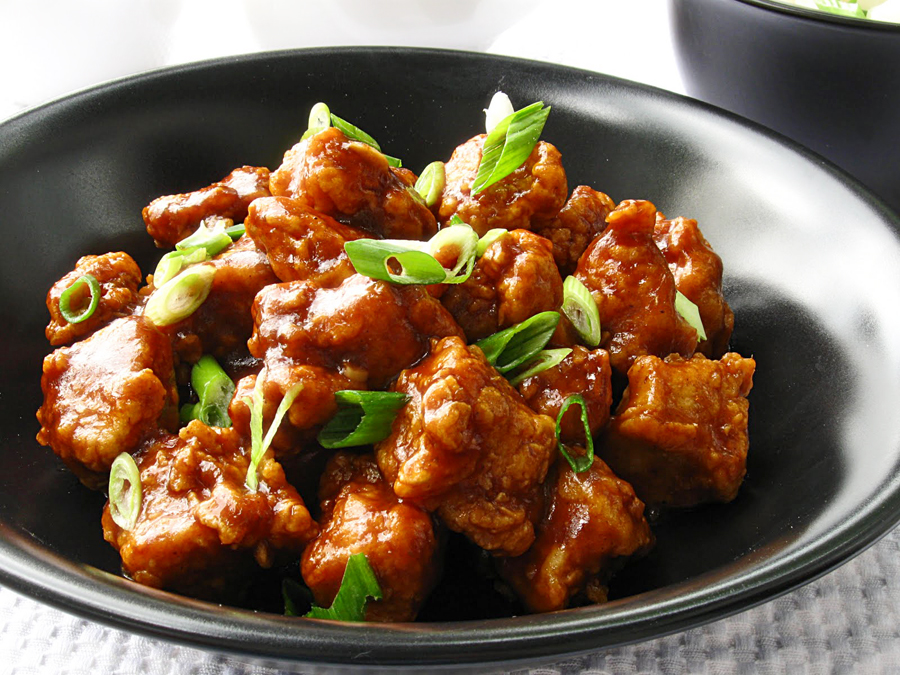 General Tso Chicken...an image resembling what we're putting together, and before it is put into the bread for a sandwich. Yum!